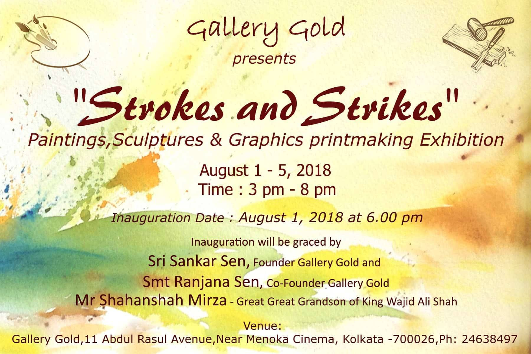 Strokes and Strikes - Paintings, Sculptures and Graphics printmaking Exhibition