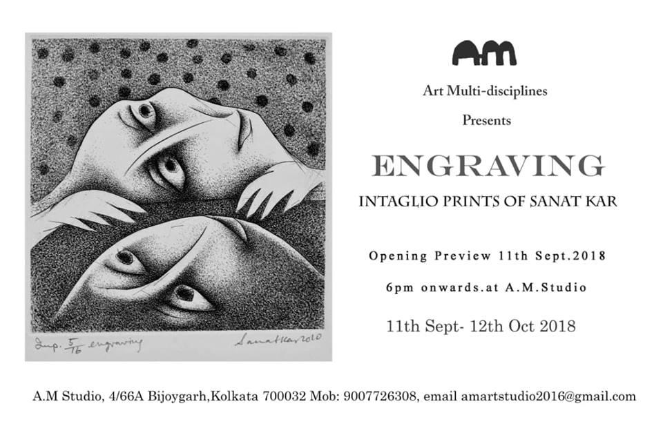 Engraving - Intaglio Prints of Sanat Kar