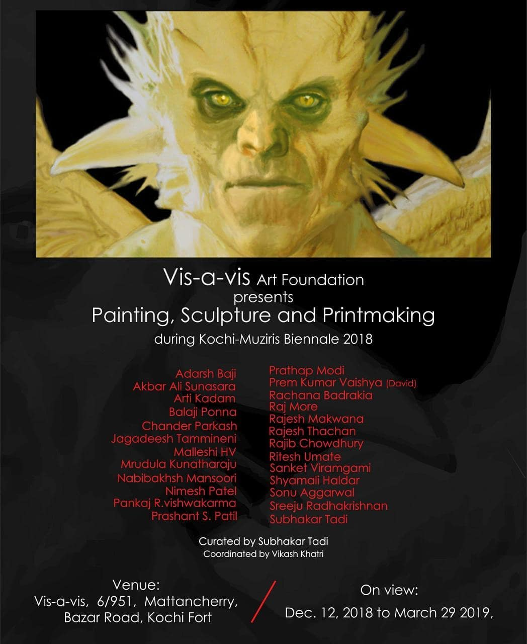 Vis-a-vis - Painting, Sculpture and Printmaking Exhibition, Kochi-Muziris Biennale