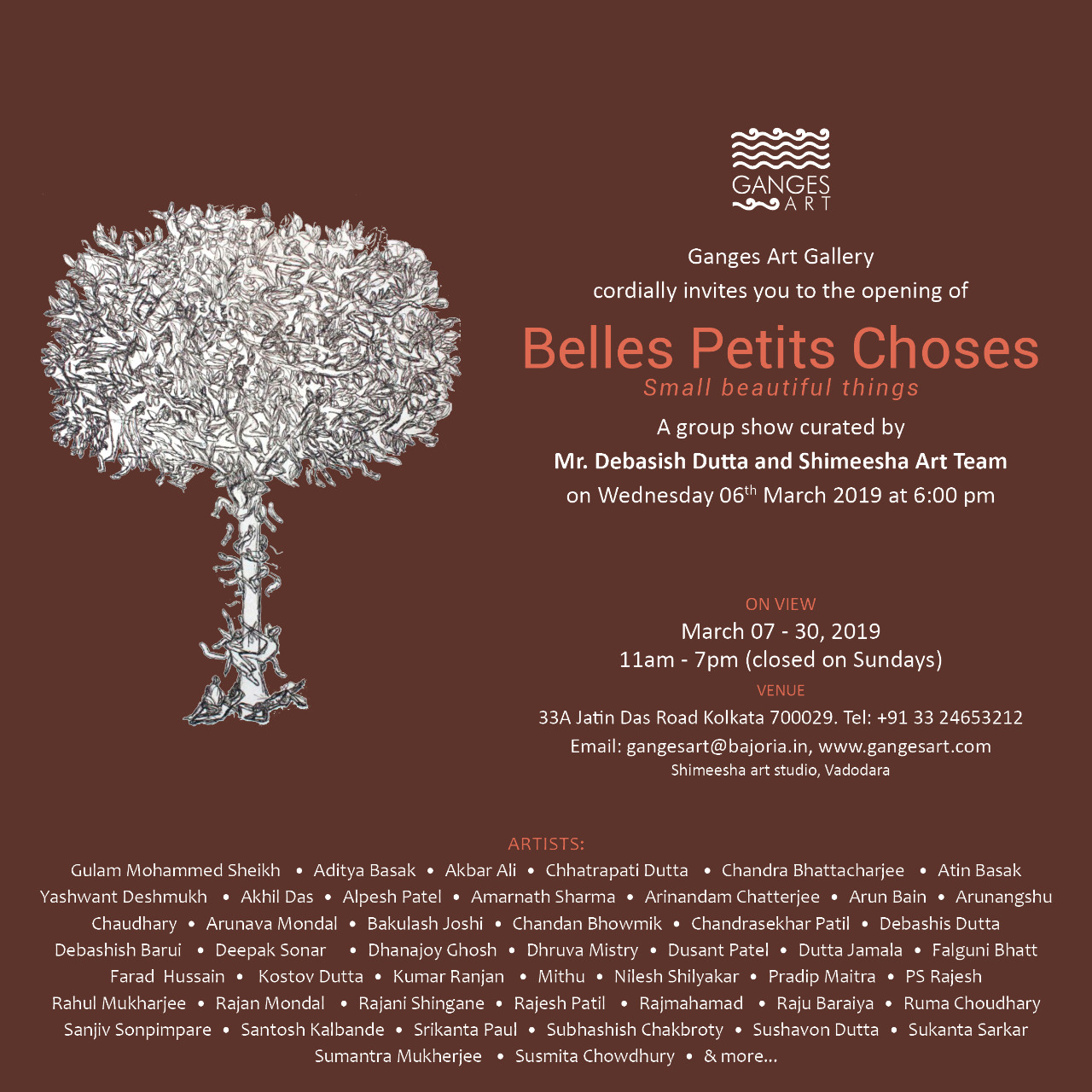 Belles Petits Choses - A group show cureted by Mr. Dabasish Dutta
