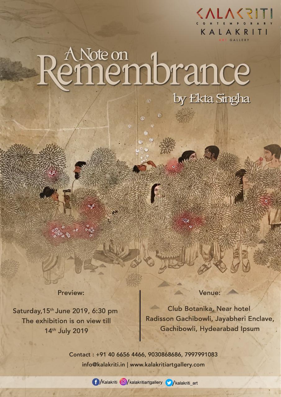 A Note on Remembrance by Ekta Singha
