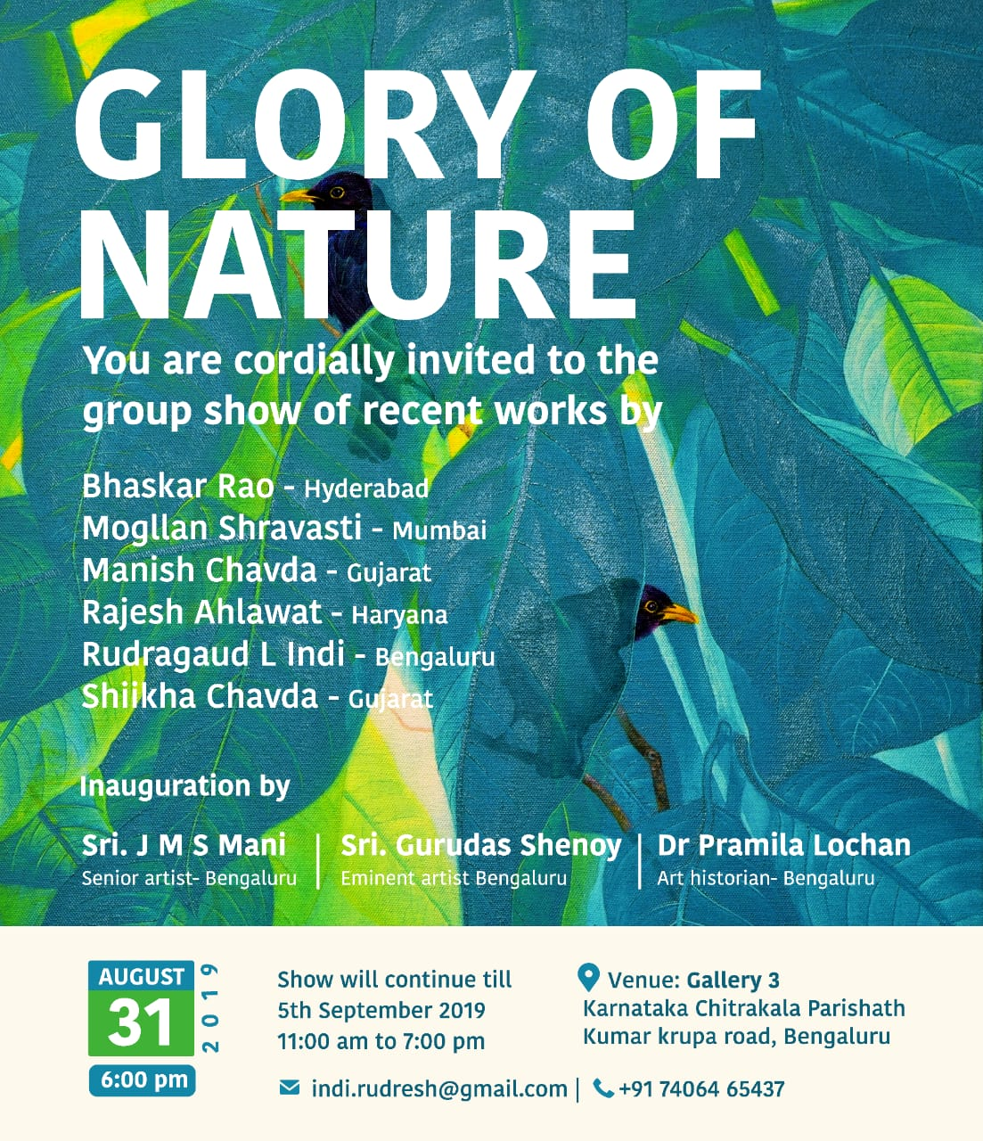 Glory of Nature - Group show of Paintings