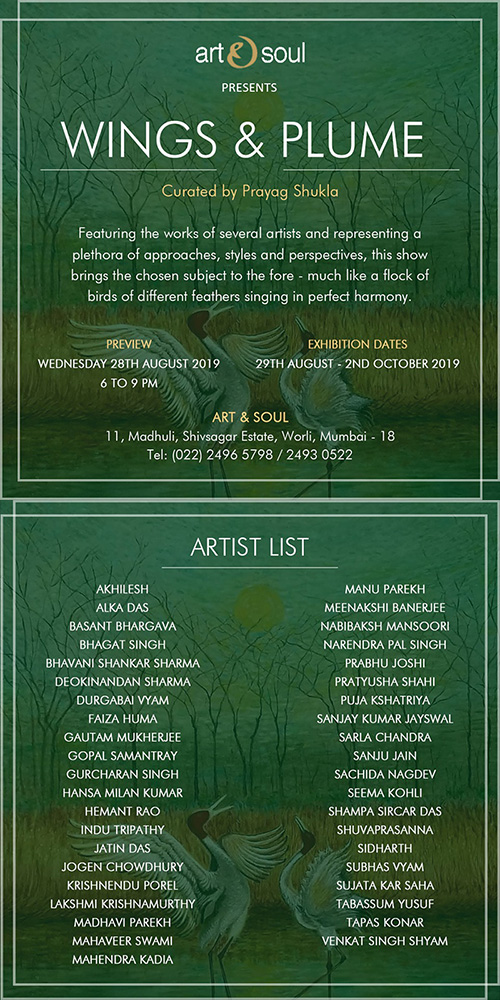 """Wings and Plume"", a group show curated by Prayag Shukla"