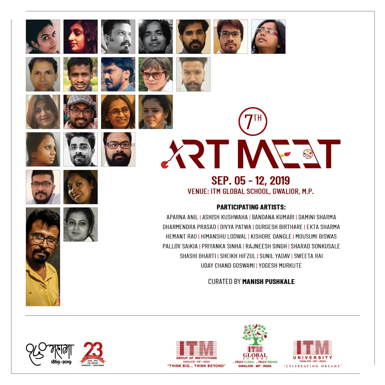 7th Art Meet - Curated by Manish Pushkale