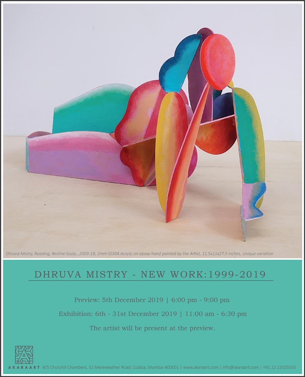 New Work: 1999 - 2019 by Dhruva Mistry