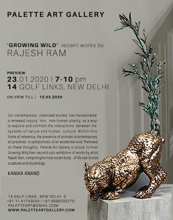 'Growing Wild' – Recent works by Rajesh Ram