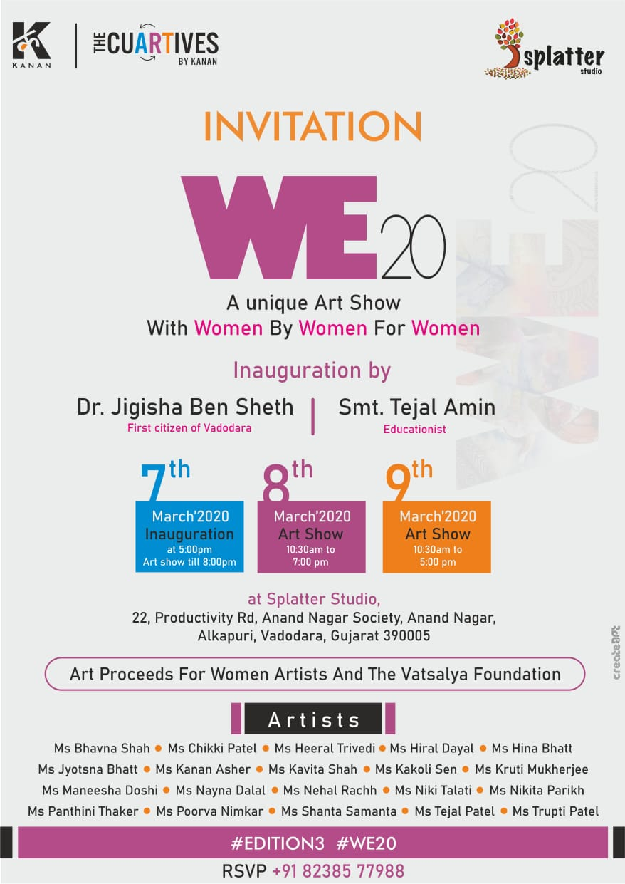 We 20 – A unique Art Show with Women by Women for Women